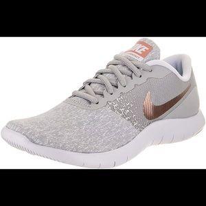 Nike Flex Contact Running Shoes Rose Gold Grey